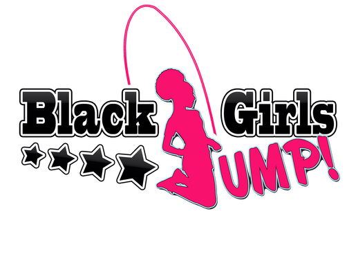 A silhouette of a girl jumping rope