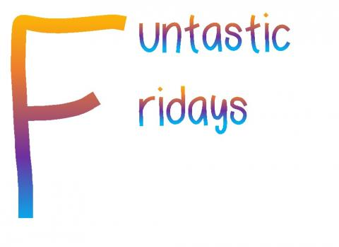 Funtastic Friday in rainbow letters