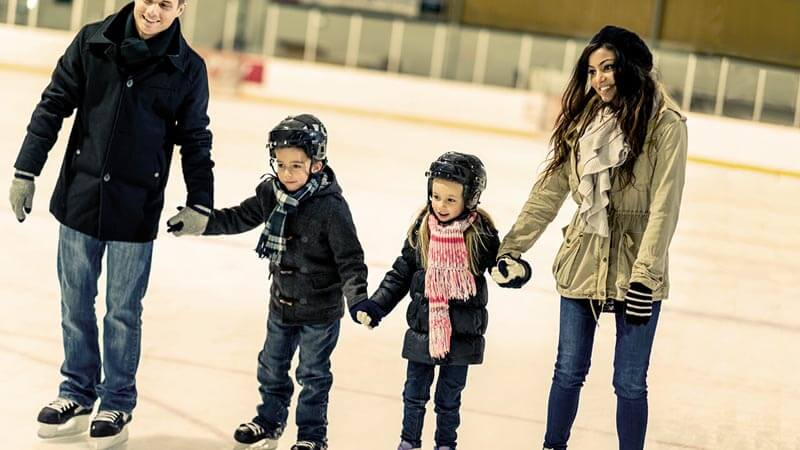 Family Ice Skating at Daniel Capuano Rink