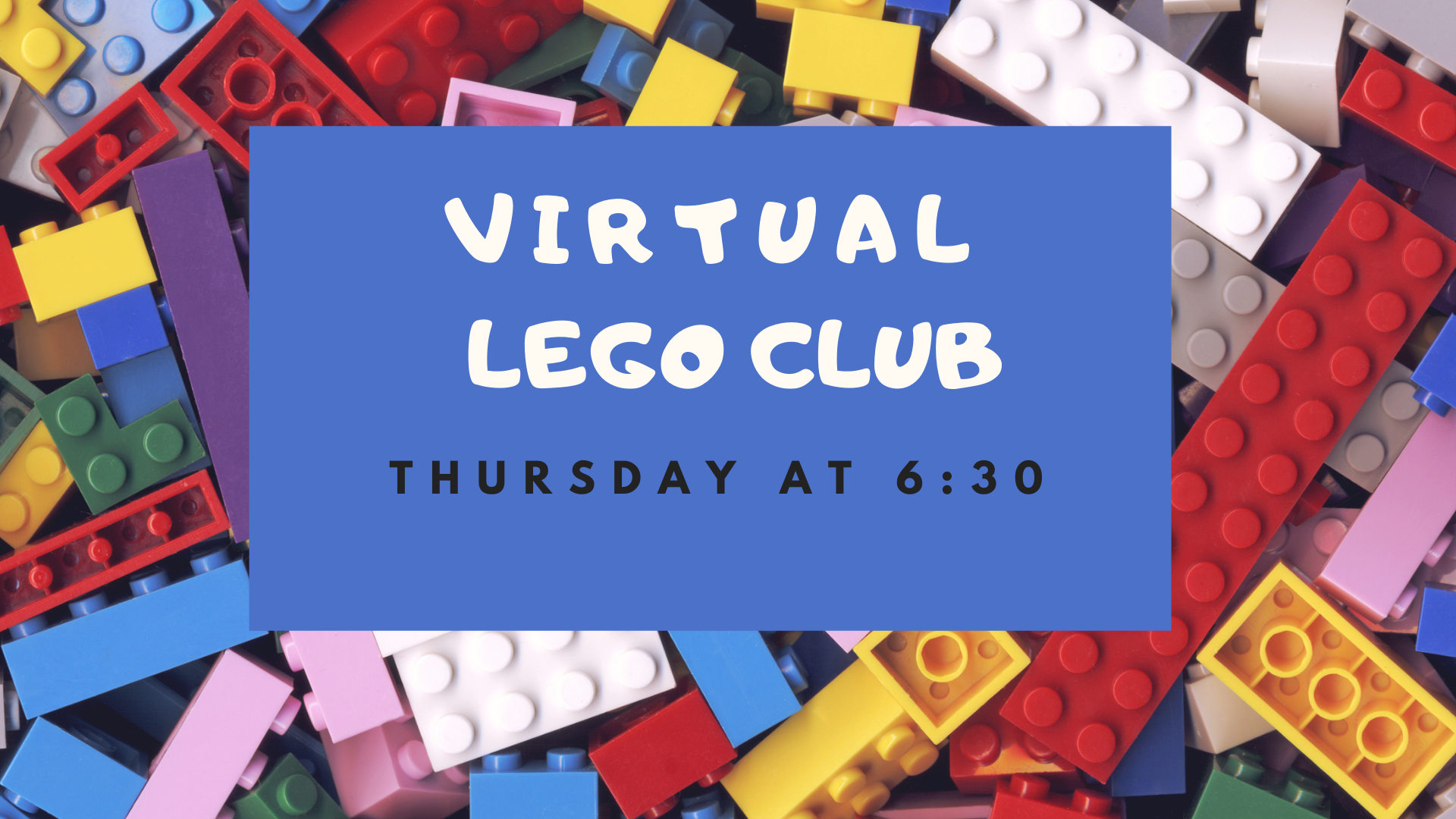 Ad for Lego Club with a photo of Lego bricks in the background.
