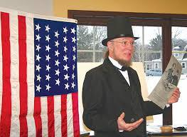 Man portraying Abraham Lincoln