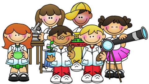 Six children in lab coats